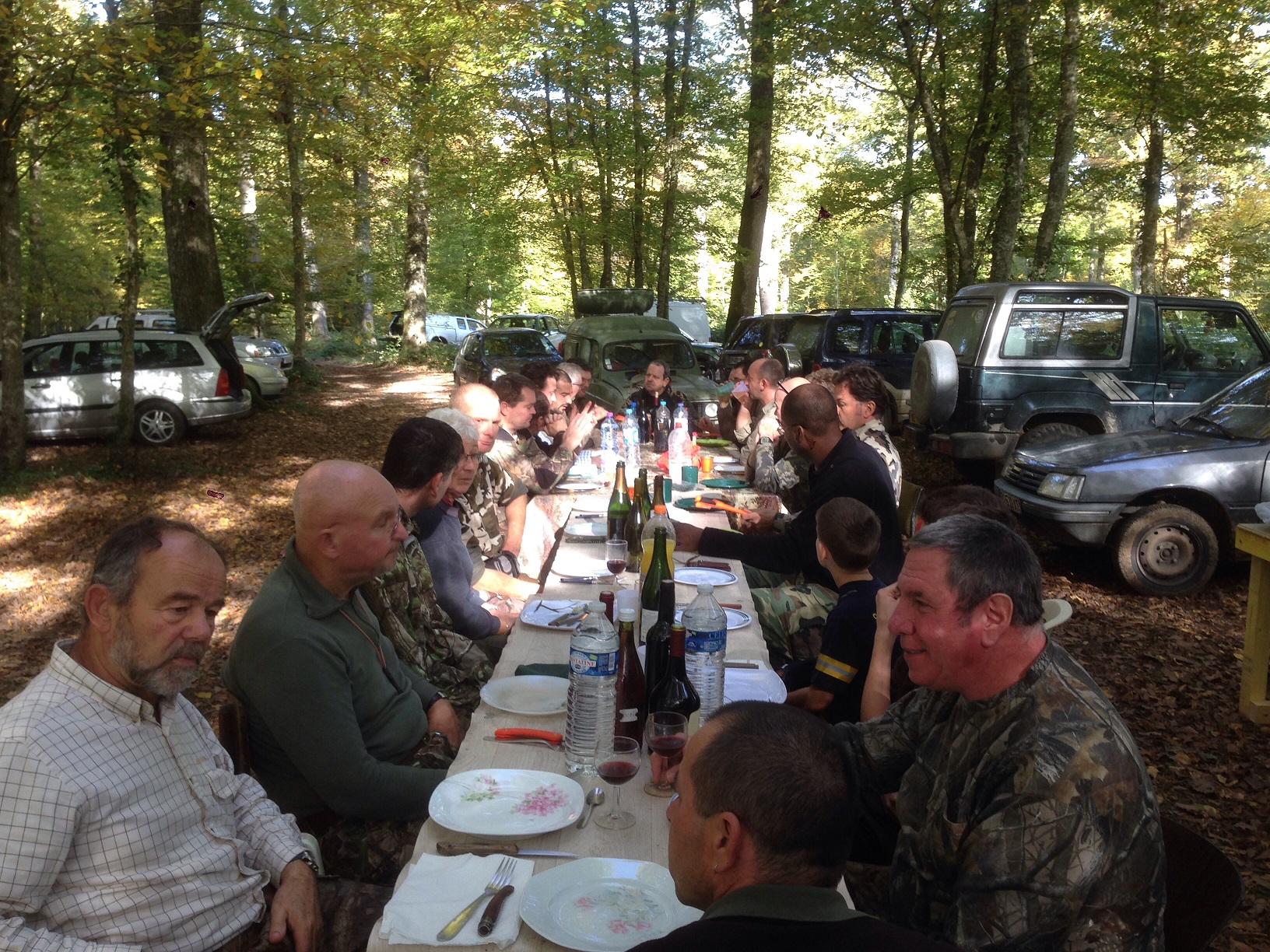 Repas de chasse en extérieur le 01-11-2014